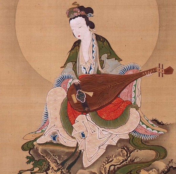 Haritsu, Ogawa (1663-1747) - Benzaiten, the Goddess of Music and Good Fortune, first half 18th ce