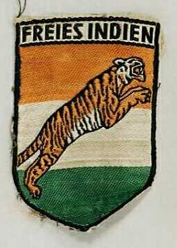 A badge from the Freies Indien, aka the Indische Legion, aka the Tiger Legion, aka the Azad Hind Fauj, aka the Free Indian Army. This was the (ultimately pointless) German army unit put together by Subhash Chandra Bose.