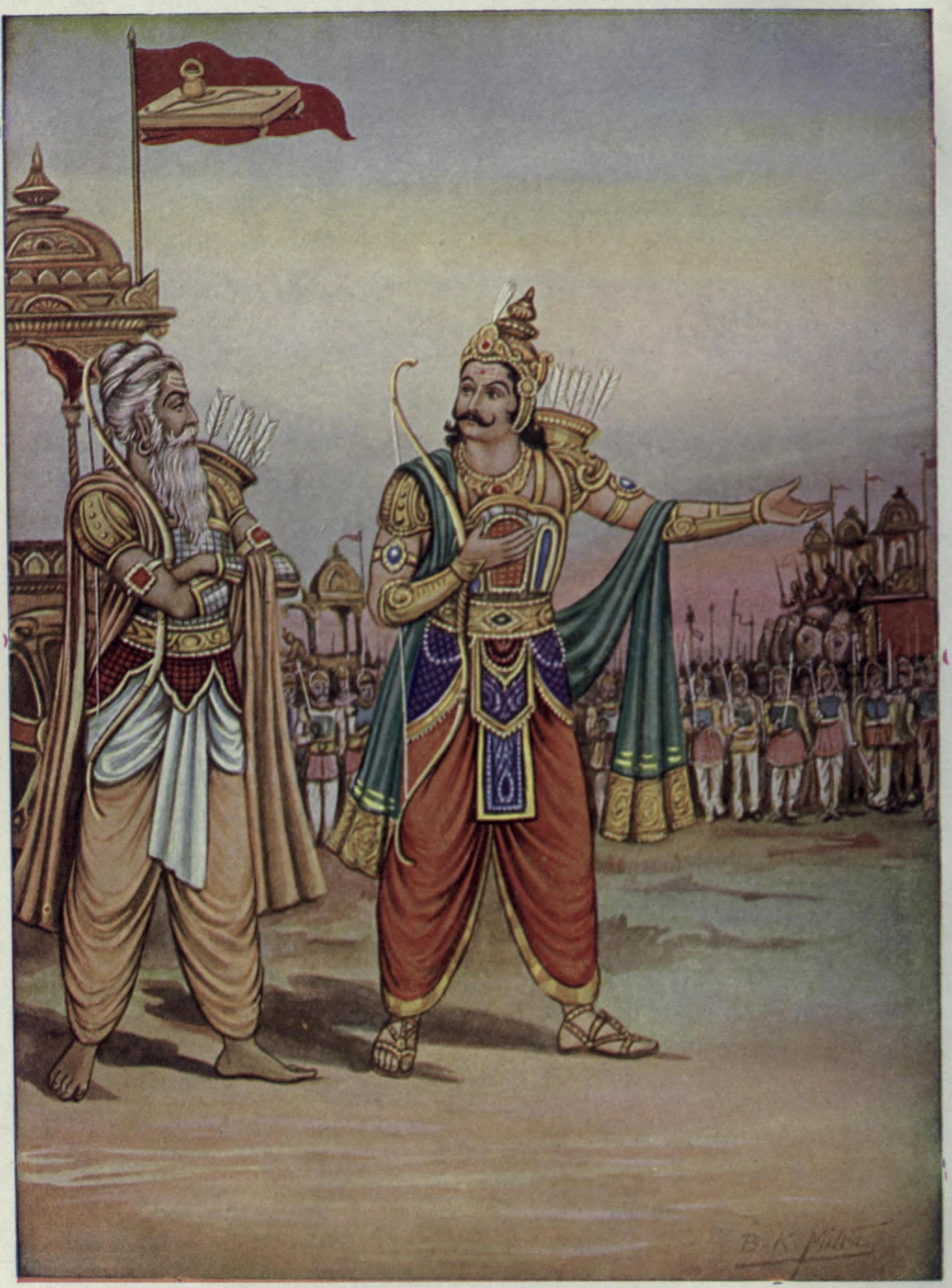 Duryodhana_showing_his_army_to_Drona
