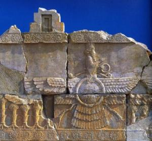 """Leaving aside questions of monism, dualism, pluralism, or a """"Universal Idea"""" it is interesting to observe that aesthetically Zoroastrianism is more single-pointed and Hinduism presents a plurality of forms. (Image source)"""