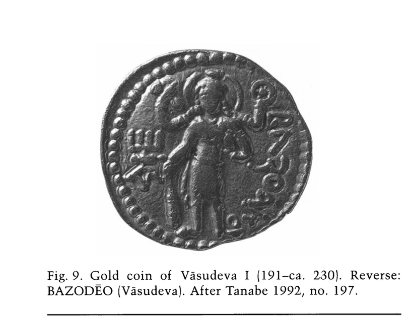 "Source: ""Iranian Gods in Hindu Garb: The Zoroastrian Pantheon of the Bactrians and Sogdians, Second–Eighth Centuries"" By Frantz Grenet, p. 91."